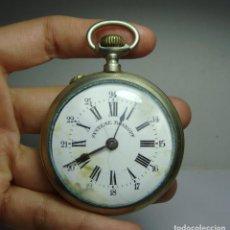 Relógios de bolso: RELOJ DE BOLSILLO. CARGA MANUAL. ROSKPF. ESFERA ESMALTADA. ARGENTAN. (52 MM DIÁMETRO). Lote 248262510