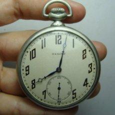 Relojes de bolsillo: RELOJ DE BOLSILLO DE PLATA. CARGA MANUAL. CON CONTRASTES .800 ML. MARCA ZENITH.. Lote 248288265