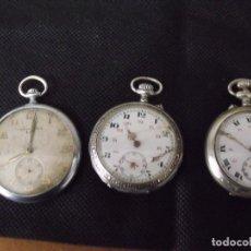 Relojes de bolsillo: 3 RELOJES ANTIGUOS DE BOLSILLO- AÑO 1890-1920- LOTE 259-14. Lote 248575595