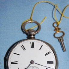 Relojes de bolsillo: RELOJ BOLSILLO SEMICATALINO EN PLATA. Lote 248750255