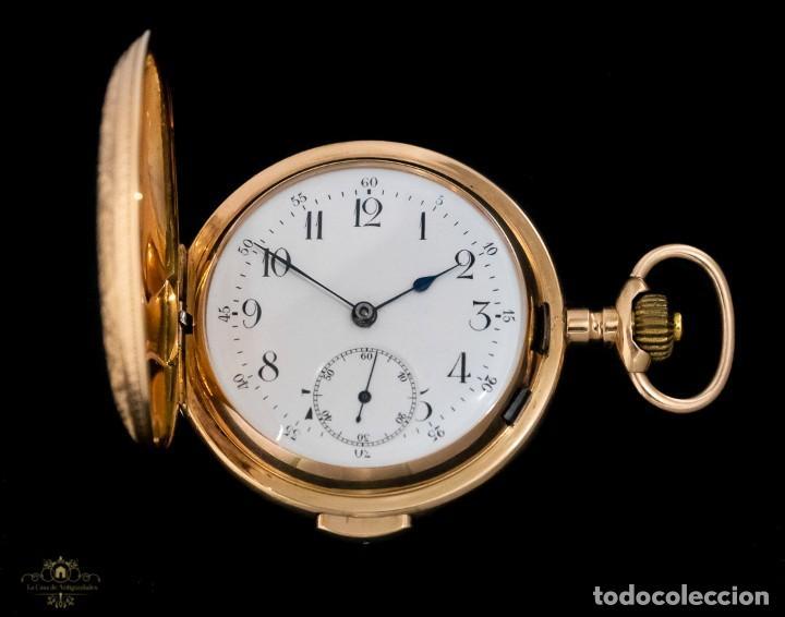 Relojes de bolsillo: Antiguo reloj de bolsillo suizo, de oro 18k, con repetición de minutos. - Foto 2 - 249035715