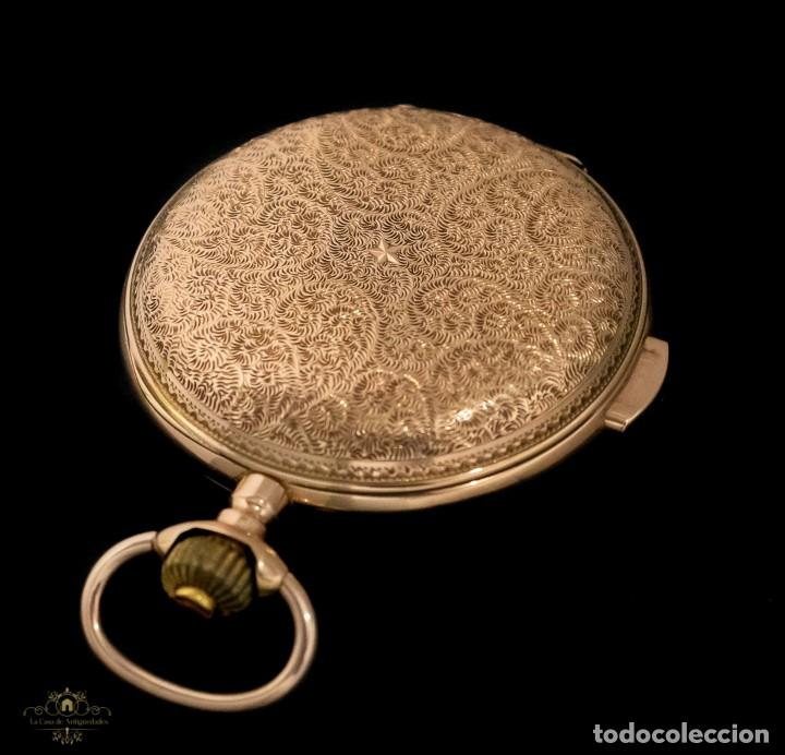 Relojes de bolsillo: Antiguo reloj de bolsillo suizo, de oro 18k, con repetición de minutos. - Foto 5 - 249035715