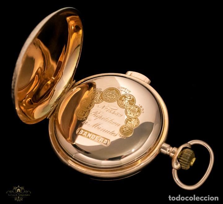 Relojes de bolsillo: Antiguo reloj de bolsillo suizo, de oro 18k, con repetición de minutos. - Foto 8 - 249035715