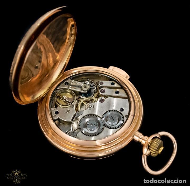 Relojes de bolsillo: Antiguo reloj de bolsillo suizo, de oro 18k, con repetición de minutos. - Foto 10 - 249035715