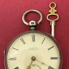 Relojes de bolsillo: MAGNÍFICO RELOJ DE PLATA SEMICATALINO, H.SAMUEL MARKET ST MANCHESTER.. Lote 250208585