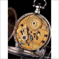 Relojes de bolsillo: ANTIGUO RELOJ DE BOLSILLO CHINO PARA CAPITÁN DE BARCO. PLATA. RARO ESCAPE DÚPLEX. SUIZA, CIRCA 1870. Lote 250210325