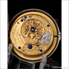 Relojes de bolsillo: PRECIOSO RELOJ DE BOLSILLO CATALINO ISAAC ROGERS DE DOBLE CAJA. LONDRES, 1796. Lote 250212500