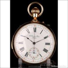 Relojes de bolsillo: ANTIGUO RELOJ DE ORO 18K POITEVIN. SONERÍA A MINUTOS Y CRONÓMETRO. LONDRES-PARIS, CIRCA 1890. Lote 250212905
