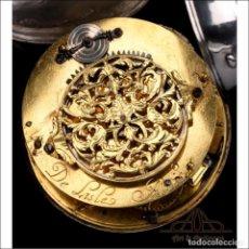 Relojes de bolsillo: MUY ANTIGUO RELOJ DE BOLSILLO CATALINO TIPO CEBOLLETA. DE LISLE. FRANCIA, CIRCA 1680. Lote 250215155
