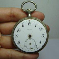 Relojes de bolsillo: ANTIGUO RELOJ DE BOLSILLO. CARGA MANUAL. LAVINA. PLATA (CON CONTRASTES). Lote 251341335