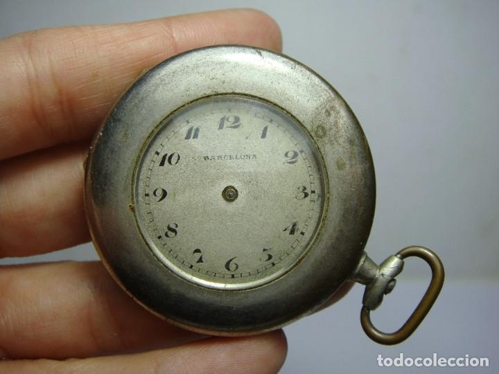 ANTIGUO RELOJ DE BOLSILLO. CARGA MANUAL. BARCELONA. (Relojes - Bolsillo Carga Manual)