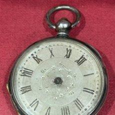 Relojes de bolsillo: ANTIGUO RELOJ DE BOLSILLO DE PLATA, DE MEDIADOS DE S.XIX. Lote 251348485