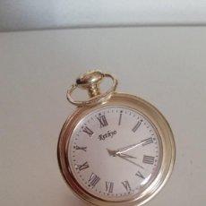 Relojes de bolsillo: RELOJ PARA COLECION RETHYO.CARGA MANUAL .LE FALTA LO BOTON DE DAR A CUERDA NORMALMENTE FONCIONA. Lote 251349090