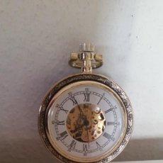 Relojes de bolsillo: PARA COLECION RELOJ CARGA MANUAL FORADO POR DETRAZ A PIEL FONCION PERFECTO. Lote 251349995
