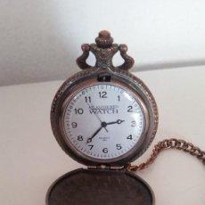 Relojes de bolsillo: PARA COLECION RELOJ DE MOTOQUEROS QUARTZ ,ATLAS FOR MEN.WATCHHECHO EN METAL TIPO BRONZE. Lote 251351225