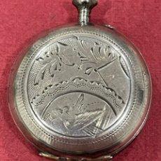 Relojes de bolsillo: ANTIGUO RELOJ DE BOLSILLO, DE PLATA, DE 3 TAPAS, DE SEÑORA, DE ANTONIO ARTEAGA. MADRID.. Lote 251635200