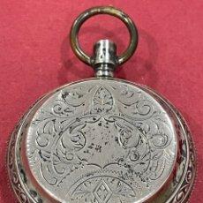 Relojes de bolsillo: ANTIGUO RELOJ DE BOLSILLO DE 3 TAPAS, DE PLATA, TAMAÑO GOLIAT.. Lote 251641515