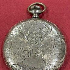 Relojes de bolsillo: ANTIGUO RELOJ DE BOLSILLO MODERNISTA, DE PLATA, DE 3 TAPAS. Lote 251683445