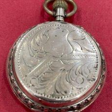 Relojes de bolsillo: ANTIGUO RELOJ DE BOLSILLO DE PLATA, DE 3 TAPAS... Lote 251685355