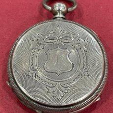 Relojes de bolsillo: ANTIGUO RELOJ DE BOLSILLO DE PLATA. S.XIX. Lote 251689975