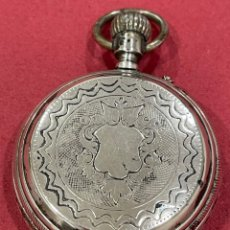 Relojes de bolsillo: MAGNÍFICO RELOJ DE BOLSILLO DE PLATSA, DE 3 TAPAS, CON MAQUINARIA FIRMADA. S.XIX. Lote 251693245