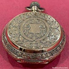 Relojes de bolsillo: EXCELENTE RELOJ DE BOLSILLO DE 3 TAPAS, CHAPADO EN ORO. S.XIX. Lote 251696385