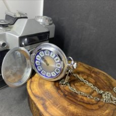Relojes de bolsillo: ANTIGUO RELOJ DE BOLSILLO RUSO DE LA MARCA MOLNIJA CON TAPA EN RELIEVE AÑOS 60 18 RUBIES. Lote 251766990