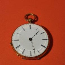 Relógios de bolso: RELOJ DE ORO 30 MM. CILINDRE HUIT RUBIO.. Lote 252386275
