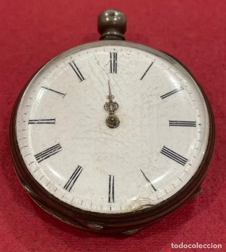 Relojes de bolsillo: Antiguo reloj de bolsillo de plata, de primera mitad de S.XIX - Foto 2 - 252596495