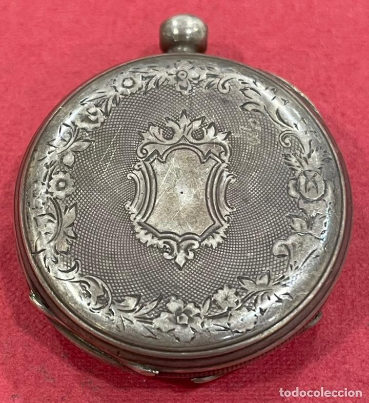 Relojes de bolsillo: Antiguo reloj de bolsillo de plata, de primera mitad de S.XIX - Foto 3 - 252596495