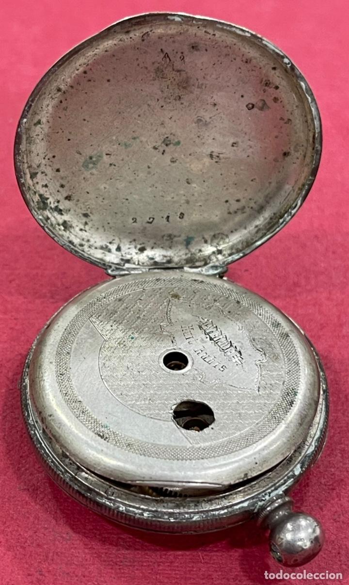 Relojes de bolsillo: Antiguo reloj de bolsillo de plata, de primera mitad de S.XIX - Foto 4 - 252596495