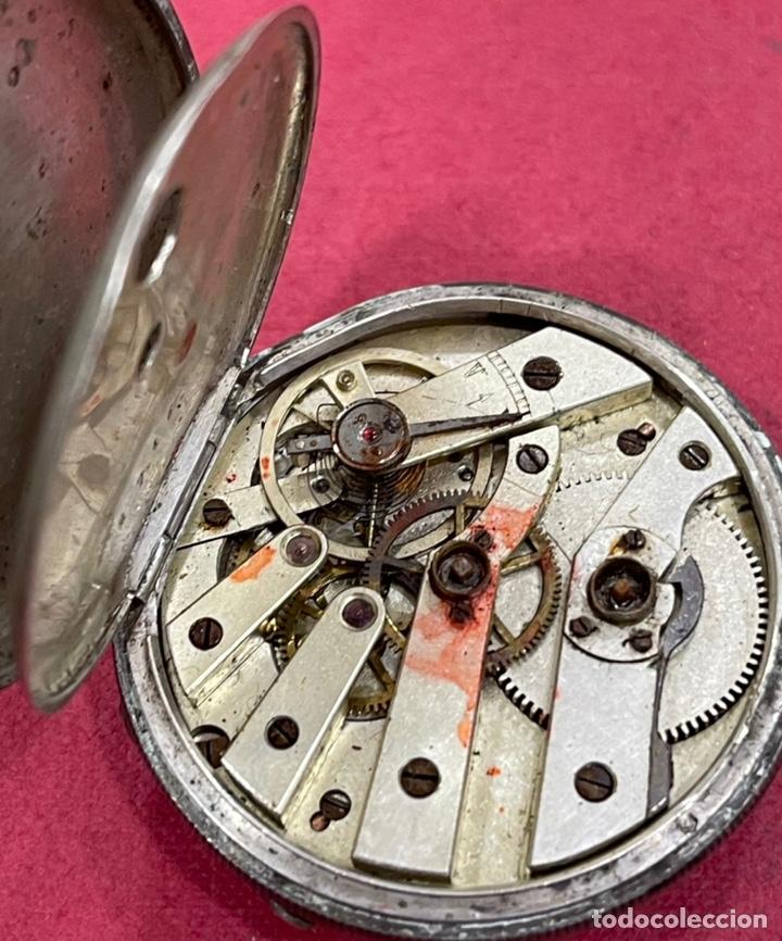 Relojes de bolsillo: Antiguo reloj de bolsillo de plata, de primera mitad de S.XIX - Foto 5 - 252596495