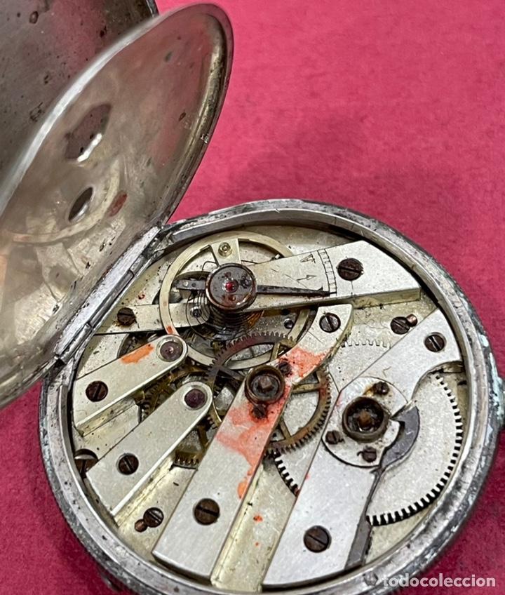 Relojes de bolsillo: Antiguo reloj de bolsillo de plata, de primera mitad de S.XIX - Foto 6 - 252596495