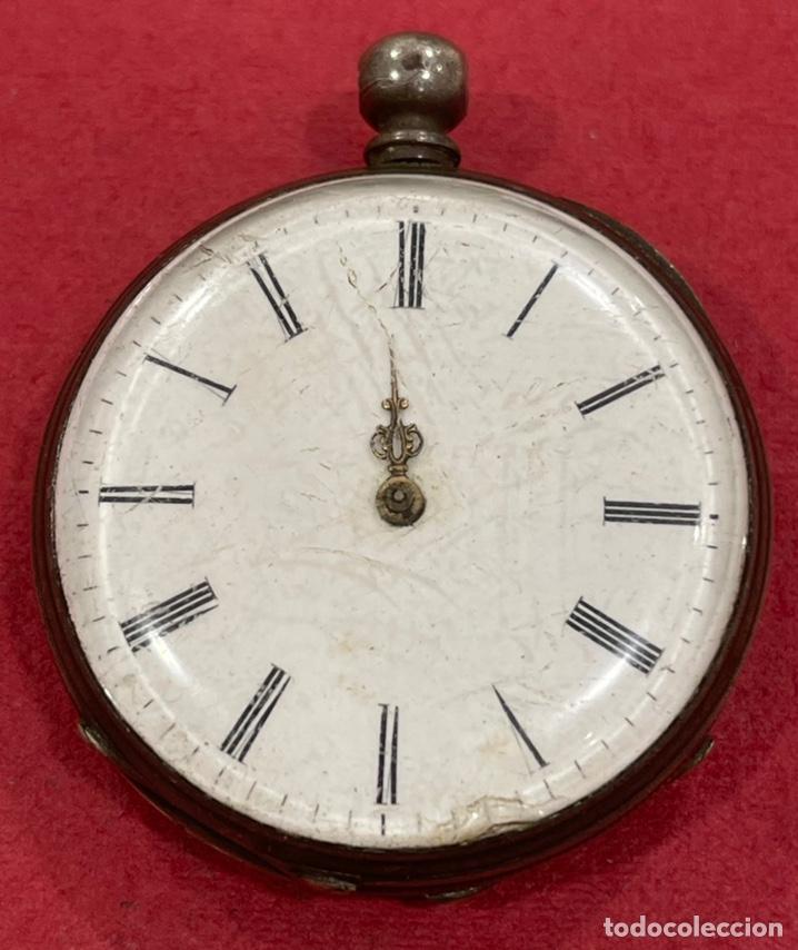 ANTIGUO RELOJ DE BOLSILLO DE PLATA, DE PRIMERA MITAD DE S.XIX (Relojes - Bolsillo Carga Manual)