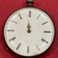 Relojes de bolsillo: ANTIGUO RELOJ DE BOLSILLO DE PLATA, DE PRIMERA MITAD DE S.XIX. Lote 252596495