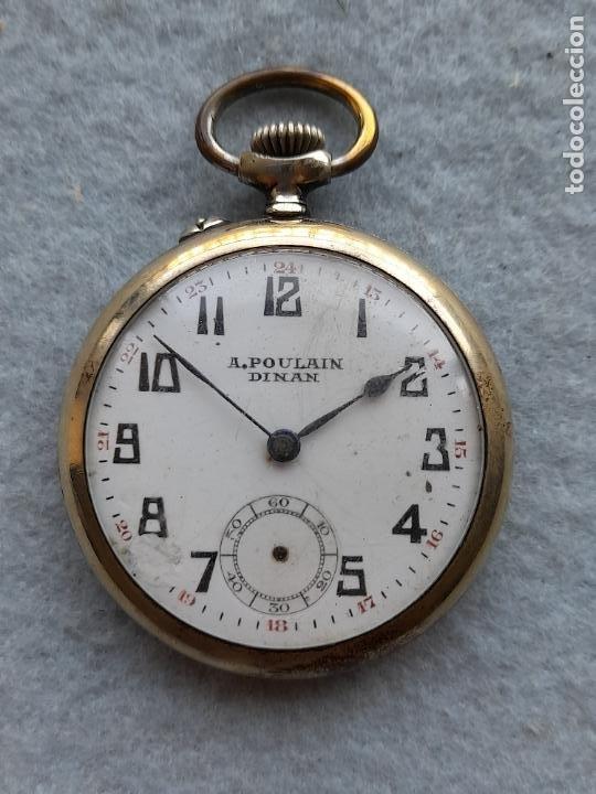Relojes de bolsillo: Reloj de Bolsillo marca A. Poulain Dinan - Foto 3 - 252815095