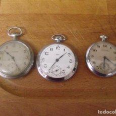 Montres de poche: 3 RELOJES ANTIGUOS DE BOLSILLO- AÑO 1890-1920--LOTE 259-17. Lote 252953325