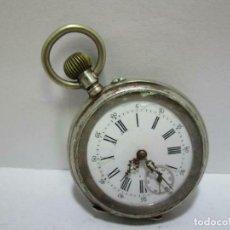 Relojes de bolsillo: ANTIGUO RELOJ DE PLATA KL Ø APROX. 47 MM FUNCIONANDO. Lote 253343365