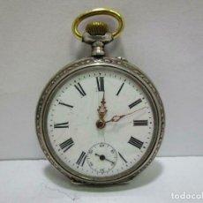 Relojes de bolsillo: MAGNIFICO RELOJ DE BOLSILLO EN PLATA DE LEY ESFERA CERAMICA Ø APROX. 47 MM. Lote 253355845