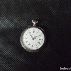 Relojes de bolsillo: ANTIGUO RELOJ BOLSILLO EN PLATA AÑO 1880 - FUNCIONA- LOTE 259-18. Lote 253515135