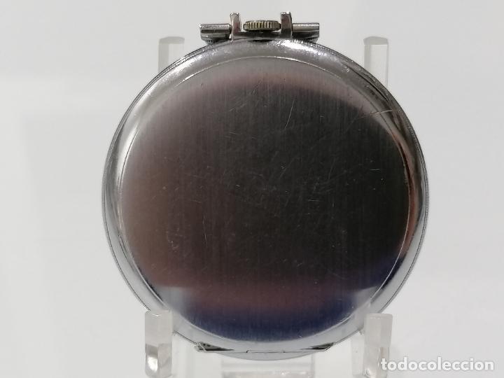 Relojes de bolsillo: RELOJ DE BOLSILLO ACERO DIGITAL CON SEGUNDERO, ART DECCO, DIAMETRO 48 MM, FUNCIONA, NO TIENE MARCA - Foto 2 - 287953588