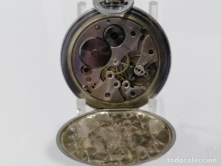 Relojes de bolsillo: RELOJ DE BOLSILLO ACERO DIGITAL CON SEGUNDERO, ART DECCO, DIAMETRO 48 MM, FUNCIONA, NO TIENE MARCA - Foto 3 - 287953588