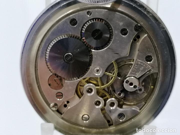 Relojes de bolsillo: RELOJ DE BOLSILLO ACERO DIGITAL CON SEGUNDERO, ART DECCO, DIAMETRO 48 MM, FUNCIONA, NO TIENE MARCA - Foto 4 - 287953588
