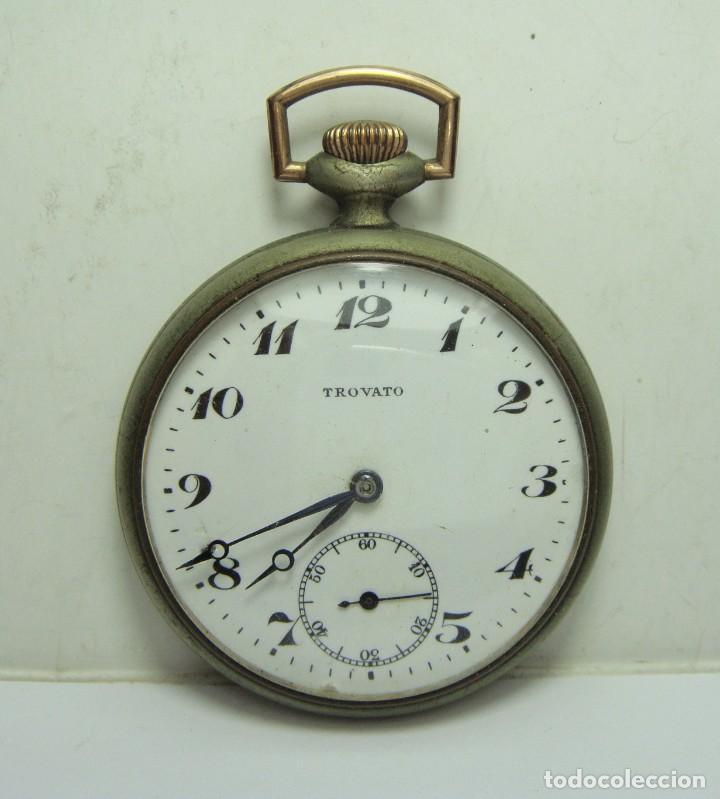 RELOJ DE BOLSILLO ANTIGUO. TROVATO. FUNCIONA. (Relojes - Bolsillo Carga Manual)