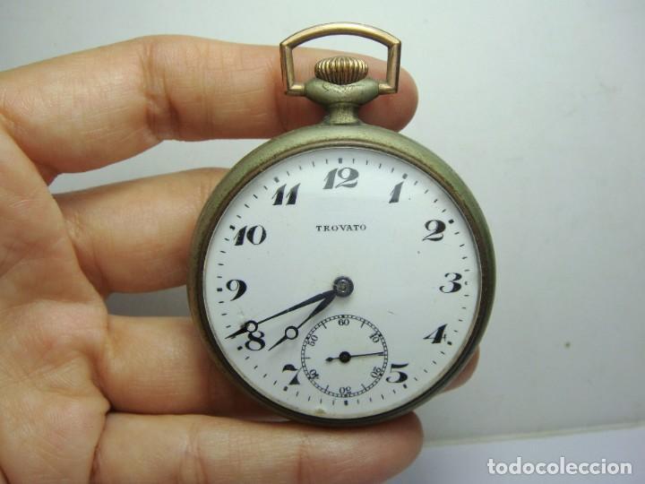 Relojes de bolsillo: Reloj de Bolsillo antiguo. TROVATO. Funciona. - Foto 2 - 254432970