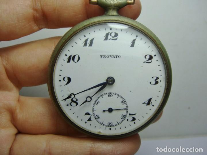 Relojes de bolsillo: Reloj de Bolsillo antiguo. TROVATO. Funciona. - Foto 3 - 254432970