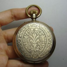 Relojes de bolsillo: RELOJ DE BOLSILLO. PLATA SOBREDORADA (18 K). PAUL JEANNOT. 15 RUBÍS. Nº 137. CAJA TRABAJADA.. Lote 254497665