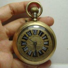 Relojes de bolsillo: RELOJ DE BOLSILLO. CARGA MANUAL. RELOJERO ADOLFO WINZER - SALAMANCA. CON BAÑO DE ORO. (56 MM). Lote 254500130