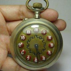 Relojes de bolsillo: RELOJ DE BOLSILLO. CRONOMETRO VERDAD. DE LENTEJAS. FUNCIONA. (58 MM). Lote 254512660