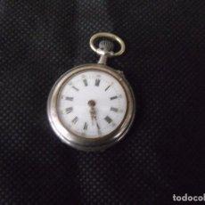 Relojes de bolsillo: ANTIGUO RELOJ DE BOLSILLO EN ARGENTAN-AÑO 1890- LOTE 259-18. Lote 254598835